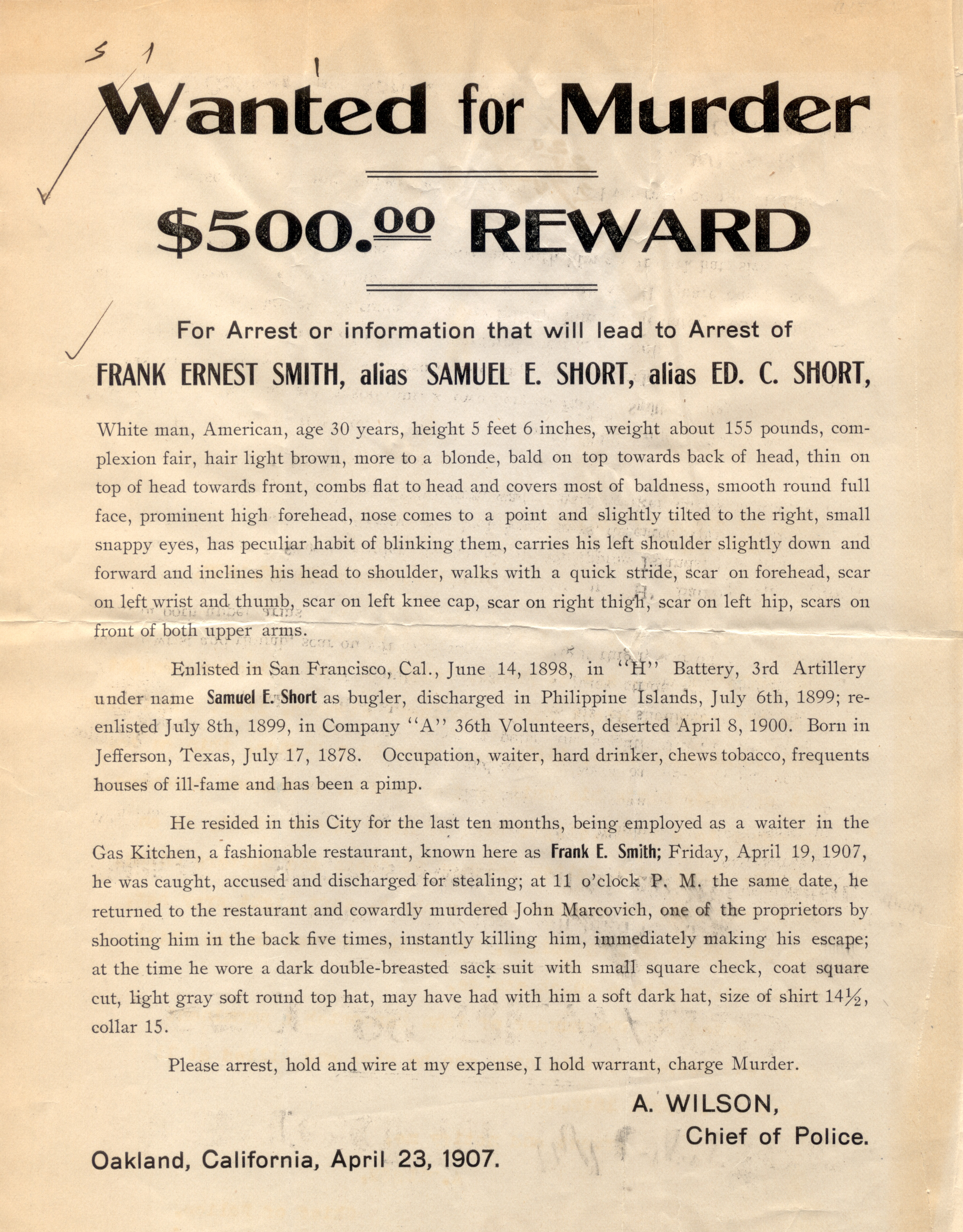 An Expensive Bottle Of Wine 1907 Dark Corners Of History